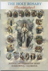 Holy Rosary Booklet - Picture and Scripture for each of the 20 Mysteries, plus  prayers.