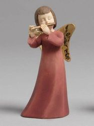 Angel with flute statue (15 cm, resin)