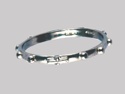 Sterling Silver Rosary Ring 19mm