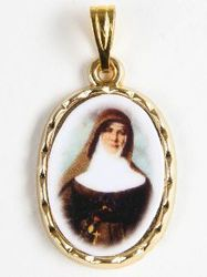 St. Mary MacKillop Gilt Picture Medal