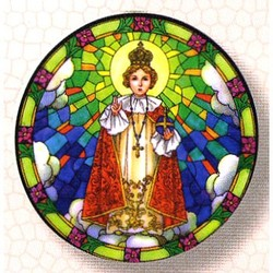Stained Glass Window Sticker - Infant of Prague