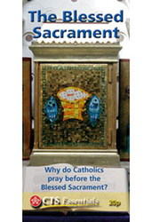 Why Do Catholics Pray Before The Blessed Sacrament pamphlet