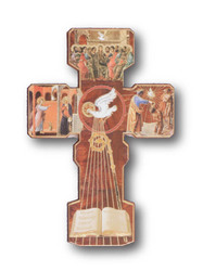 Confirmation Gold-foiled Wooden Cross                  120 x 90 mm