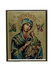 Our Lady of Perpetual Succour - gold framed print.